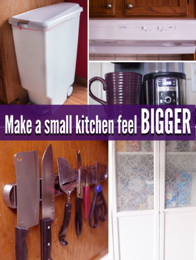 These 5 items can help small kitchens feel SO much bigger. #2 was a game changer for us! EatingRichly.com