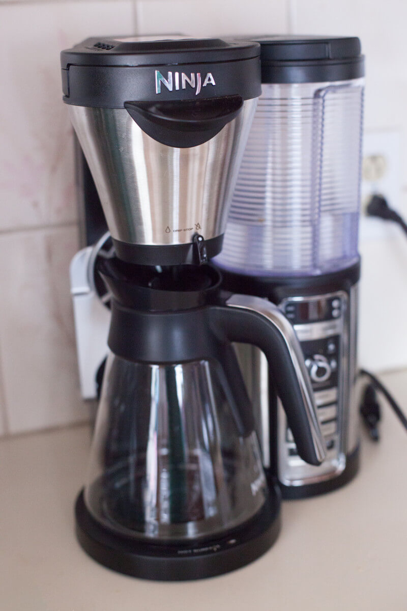 We love the Ninja Coffee Bar so much, we got rid of our espresso machine and coffee pot! More tips for small kitchens at EatingRichly.com