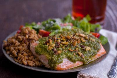 Pesto Pistachio Salmon