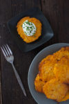 This butternut squash latke recipe is oven baked for a healthy vegetable side dish. Check out step by step photos of my three year old making them! From EatingRichly.com