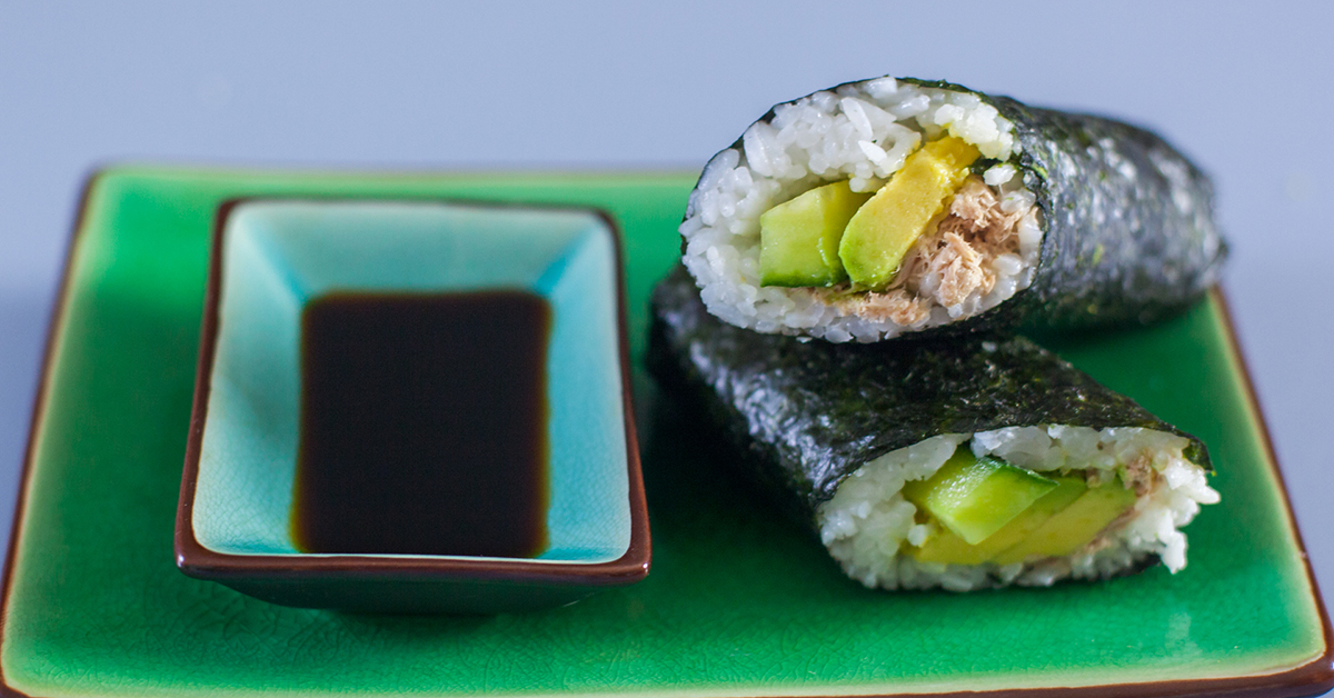 Canned Tuna Salad Sushi For Kids