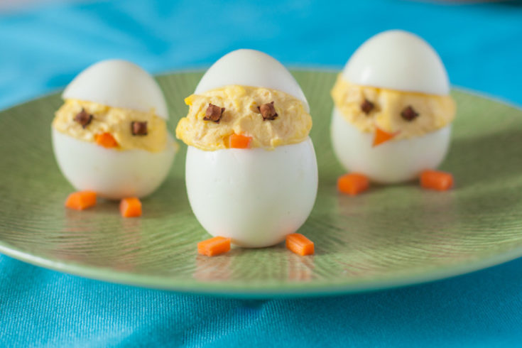 What to do with Easter Eggs: Hatching Deviled Egg Chicks
