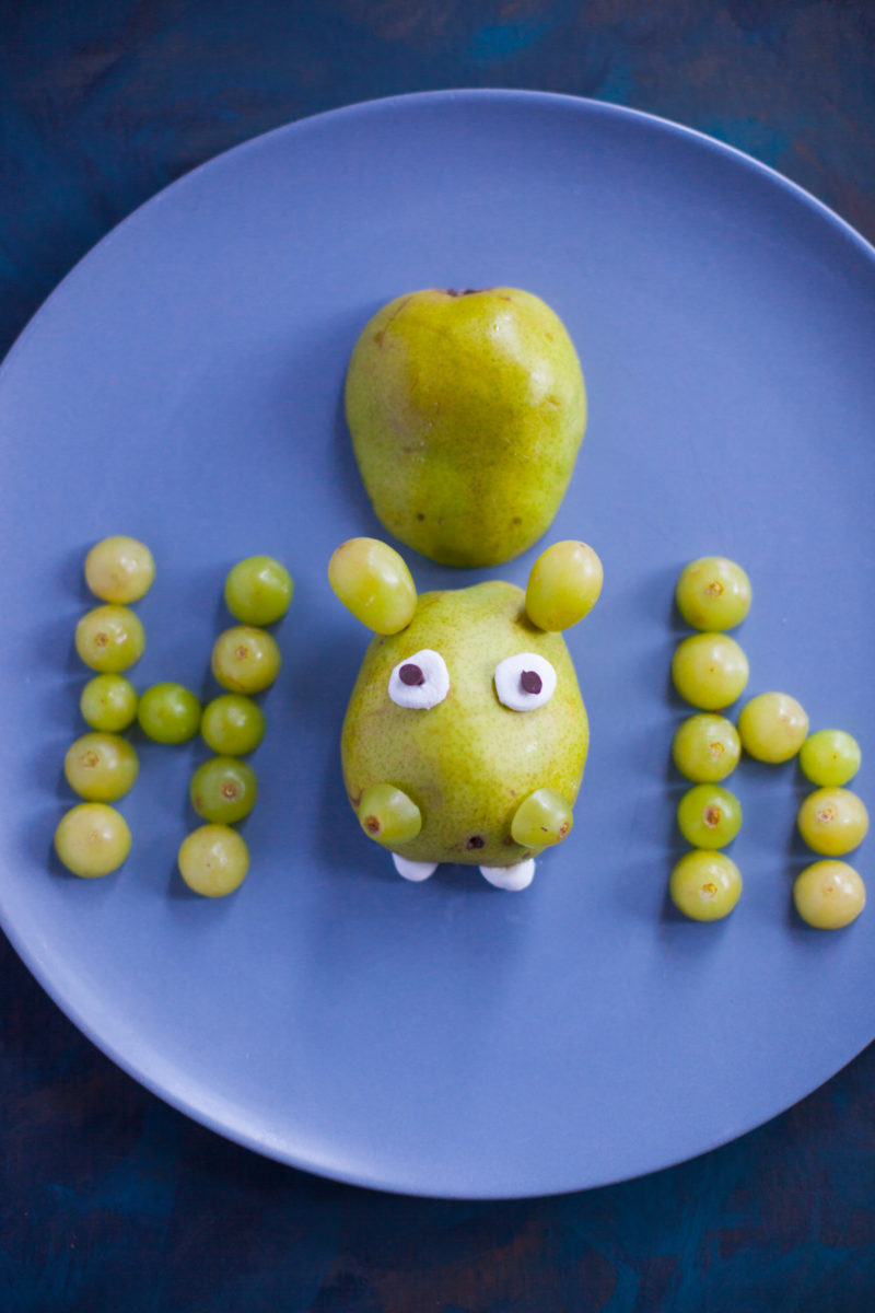 This cute hippo alphabet snack takes just 5 minutes to make, and is an easy, fun way to teach your toddler or preschooler about the letter H. Part of #MiniChefMondays on EatingRichly.com