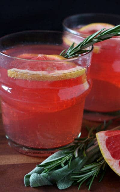 I love the combination of rosemary and sage, and they've got to pair incredibly with the red grapefruit in this sparkling seltzer mocktail. Check out all 20 booze free Mother's Day drinks on EatingRichly.com