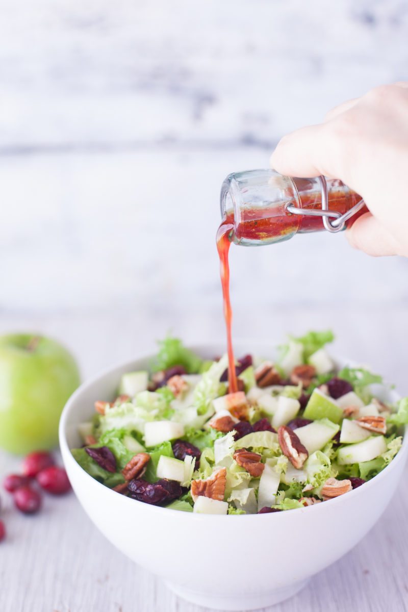 This fast and easy apple cranberry salad recipe makes two filling meals, or four side salads. Plus we walk you through everything you need to know about endive, frisée, escarole, and other chicory vegetables. From EatingRichly.com