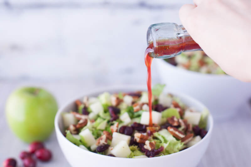 This fast and easy apple cranberry salad recipe makes two filling meals, or four side salads. From EatingRichly.com