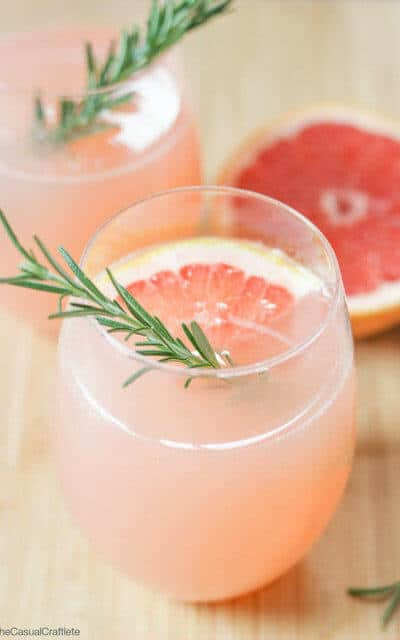 Rosemary simple syrup and fresh grapefruit juice make this mocktail a Mother's Day drink that seems perfect for breakfast in bed. Check out all 20 booze free Mother's Day drinks on EatingRichly.com