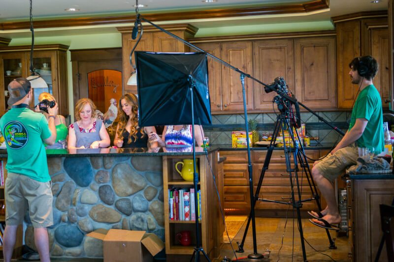 Shooting a video for #OldElPaso at Invigorate Retreat. Check out all the details of our awesome, all expense paid blogger work retreat! #InvigorateRetreat