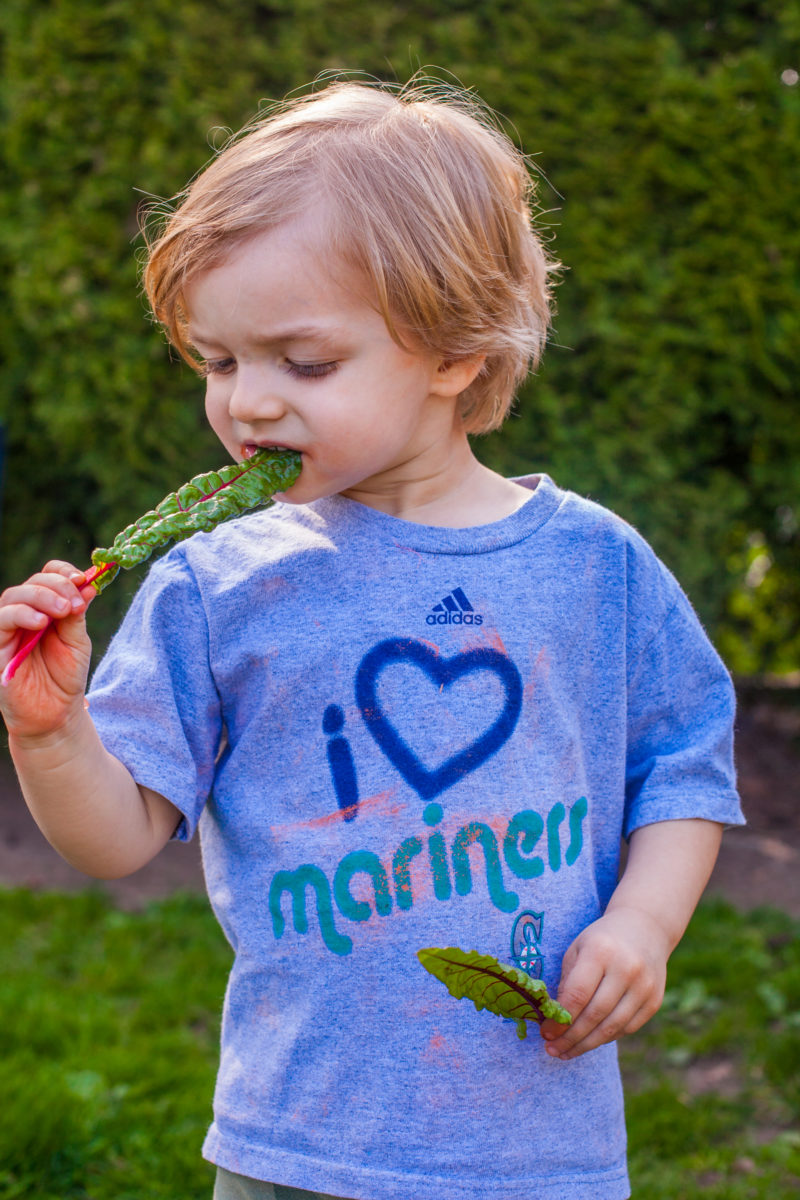 Teach your kids to love cooking and eating healthy food by getting them in the garden. Get more tips for growing a kids vegetable garden at EatingRichly.com