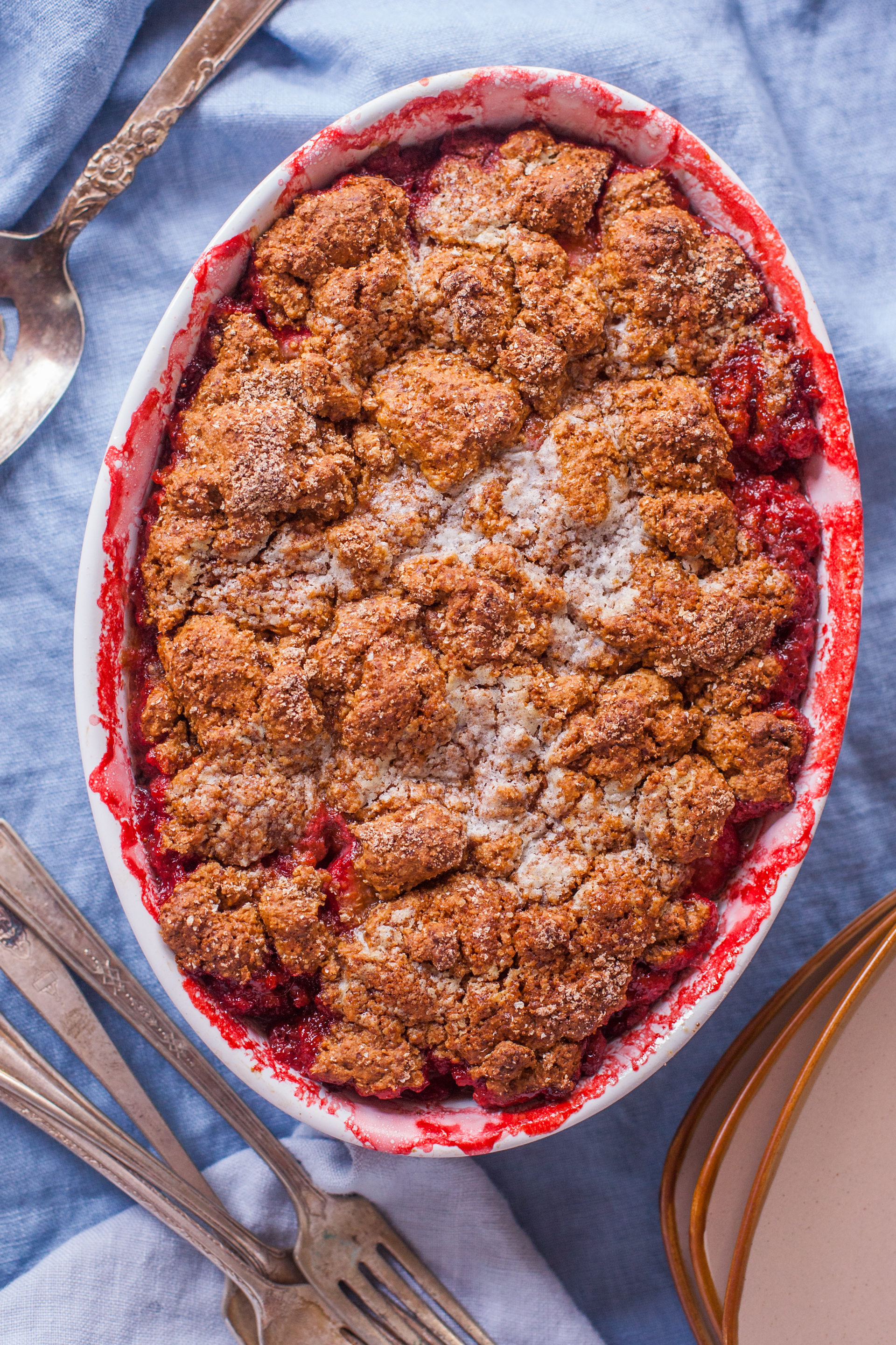 Healthy Easy Strawberry Cobbler Recipe