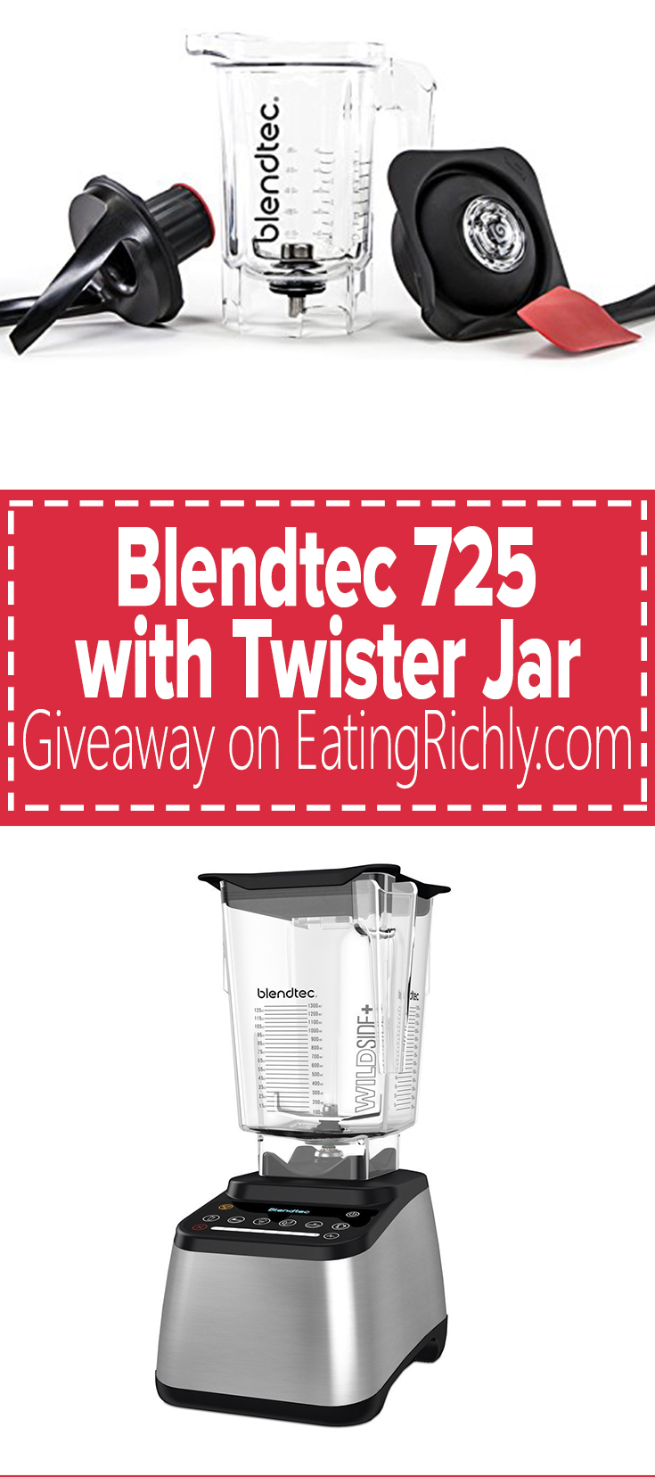 Blendtec Twister Jar review and giveaway! Plus recipe for coconut chocolate macadamia nut butter.Just four ingredients & vegan, dairy free, & paleo. You will not believe how good it is! From EatingRichly.com