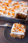 This super moist healthy carrot cake recipe uses whole ingredients and gets its moist texture from a special ingredient. From EatingRichly.com