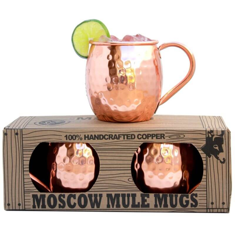 These are hands down the best copper Moscow Mule mugs on the market. A must for serving a traditional Moscow Mule!