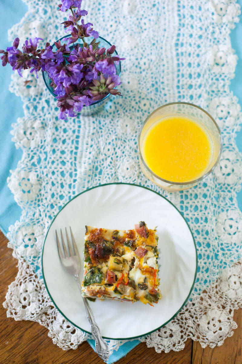 Kids can dump whatever veggies and meats they choose into this easy breakfast casserole, then surprise mom with an edible gift AND a stress free morning! Check out all ten cute edible Mother's Day gifts at EatingRichly.com