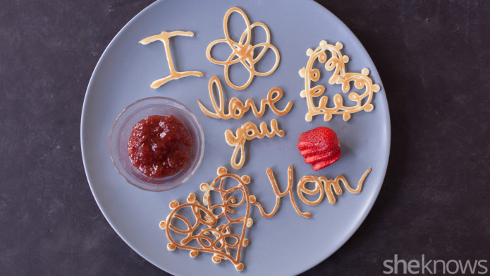 Kids will love writing messages and making shapes out of pancake batter, and mom will love not having to cook breakfast! Check out all ten cute edible Mother's Day gifts at EatingRichly.com