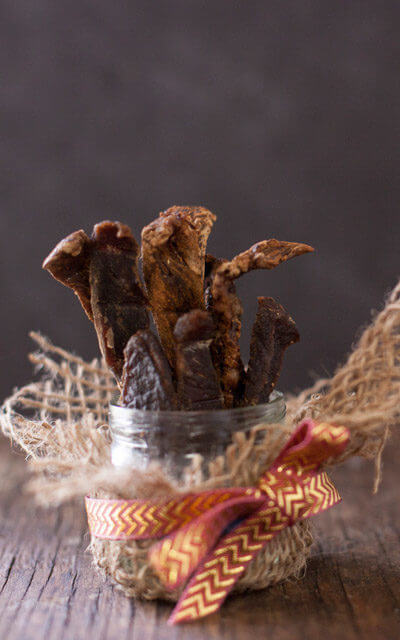 Homemade Kalbi Beef Jerky Recipe. See all 15 creative edible Father's Day gifts on EatingRichly.com.