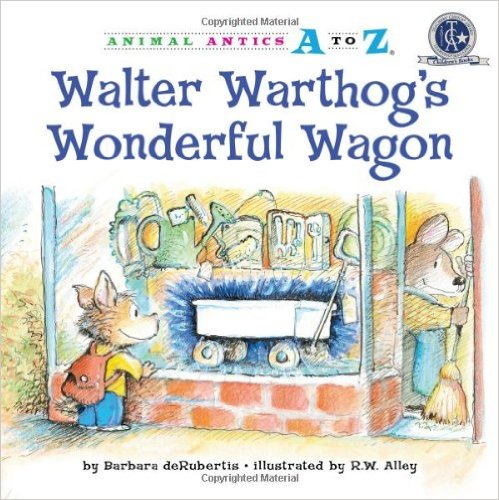 Walter Warthog wants the wonderful white wagon in the hardware store window! But his wallet is empty. Will he find a way to earn money and make the wagon his very own? Plus how to make a carved orange warthog kid snack!