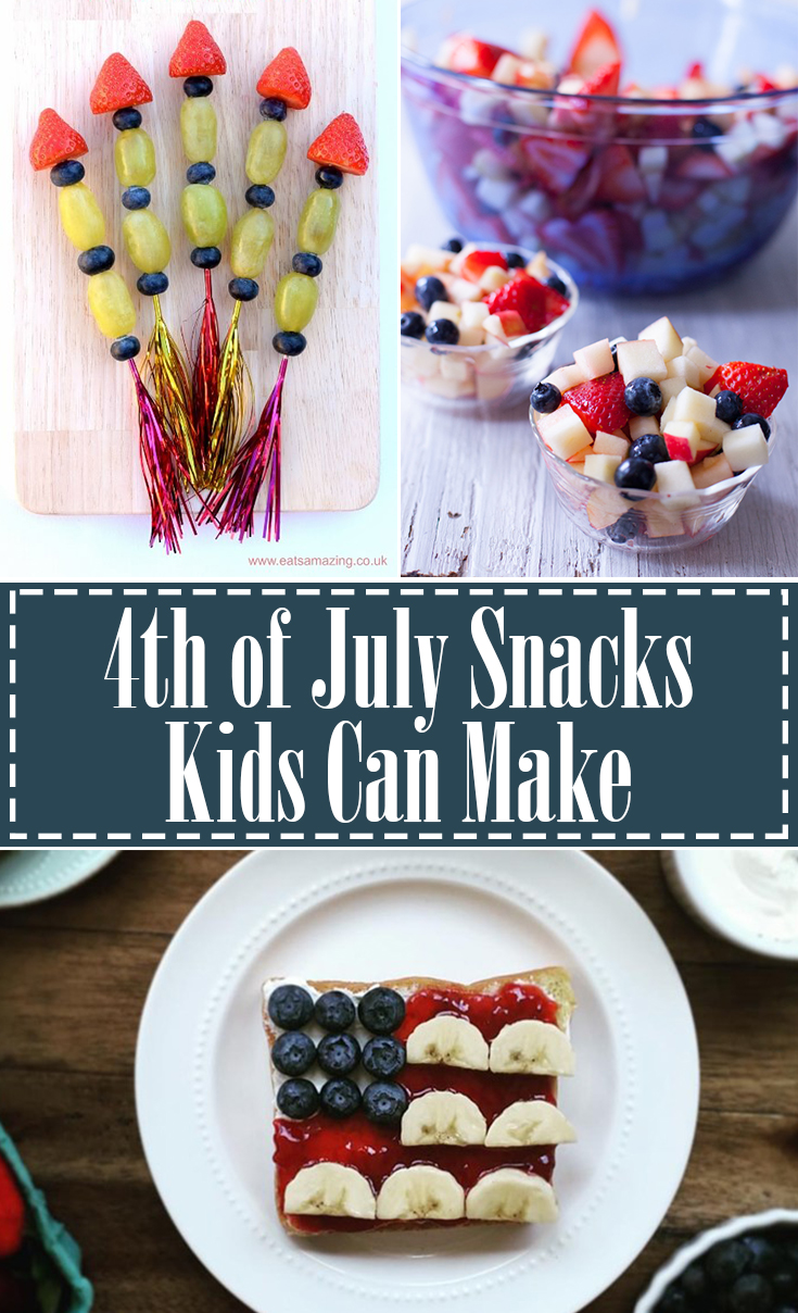 4th of July Snacks that Kids Can Make Themselves
