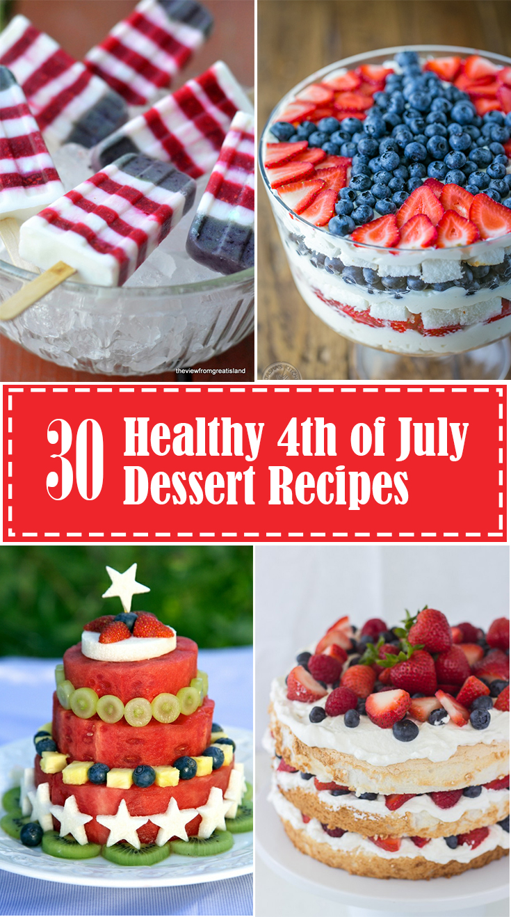 Get all 30 recipes for healthy 4th of July desserts at EatingRichly.com.
