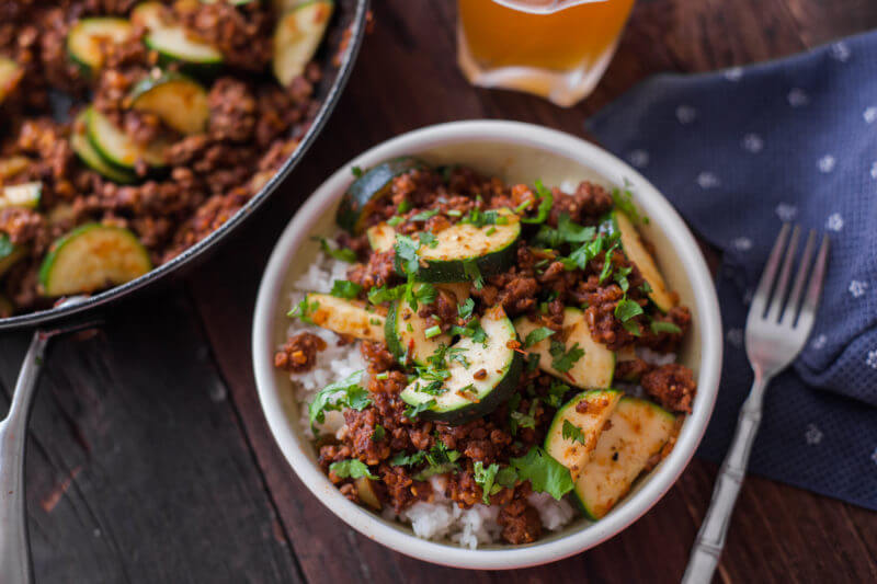 Zucchini beef skillet recipe a one pot paleo dinner forumfinder Images