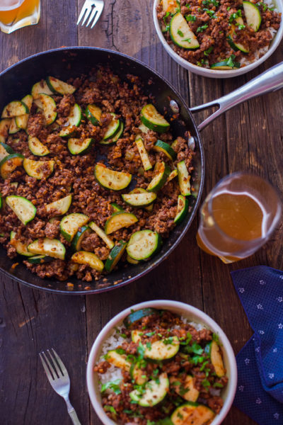 Zucchini Beef Skillet Camping Food