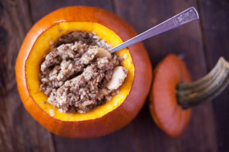 Ground Beef Dinner in a Pumpkin