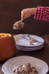 This ground beef dinner in a pumpkin is is not only easy to make, it's also a kid friendly dinner that will have your little ones begging for more! From EatingRichly.com