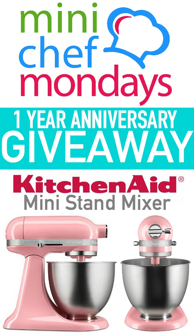 Mini Chef Mondays anniversary giveaway of a KitchenAid mixer. Plus sheck out our favorite holiday edible art projects for kids. EatingRichly.com