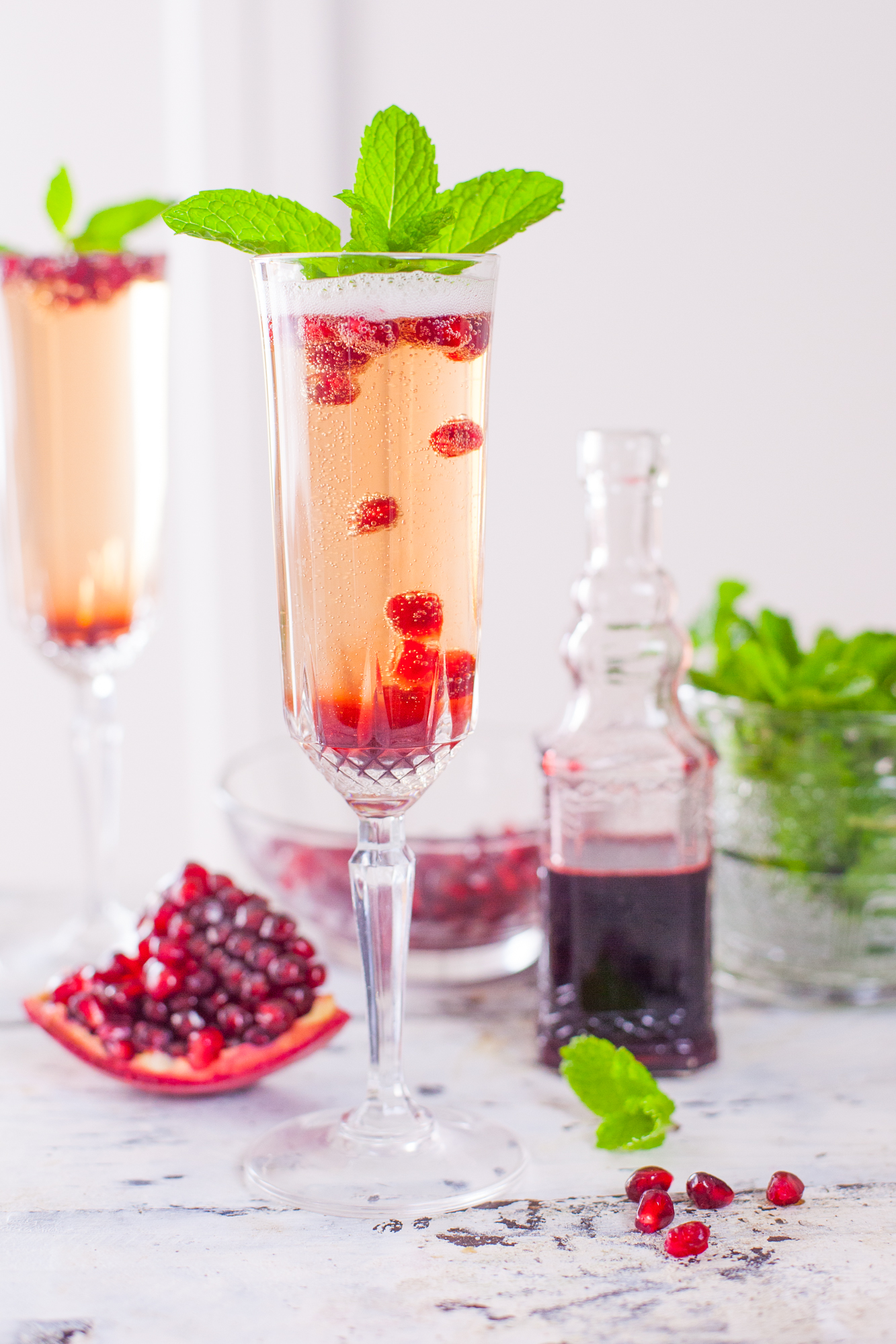 Pomegranate & Mint Margarita Recipe — Dishmaps