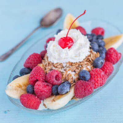 Healthy Banana Split Recipe