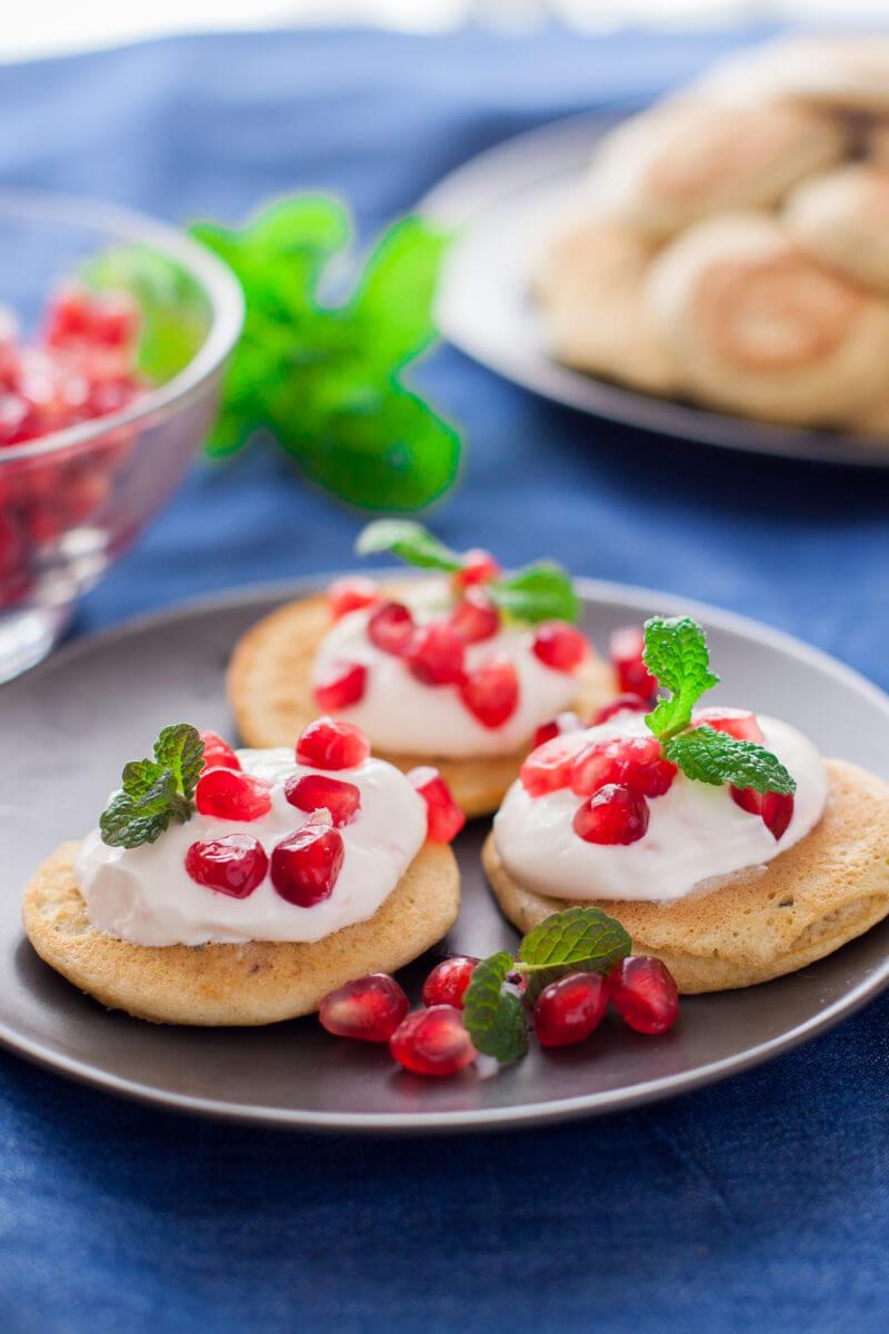 Chickpea Pancakes Mediterranean Appetizer