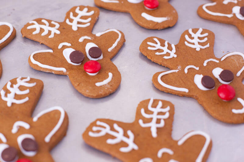 Reindeer Gingerbread Cookies Recipe