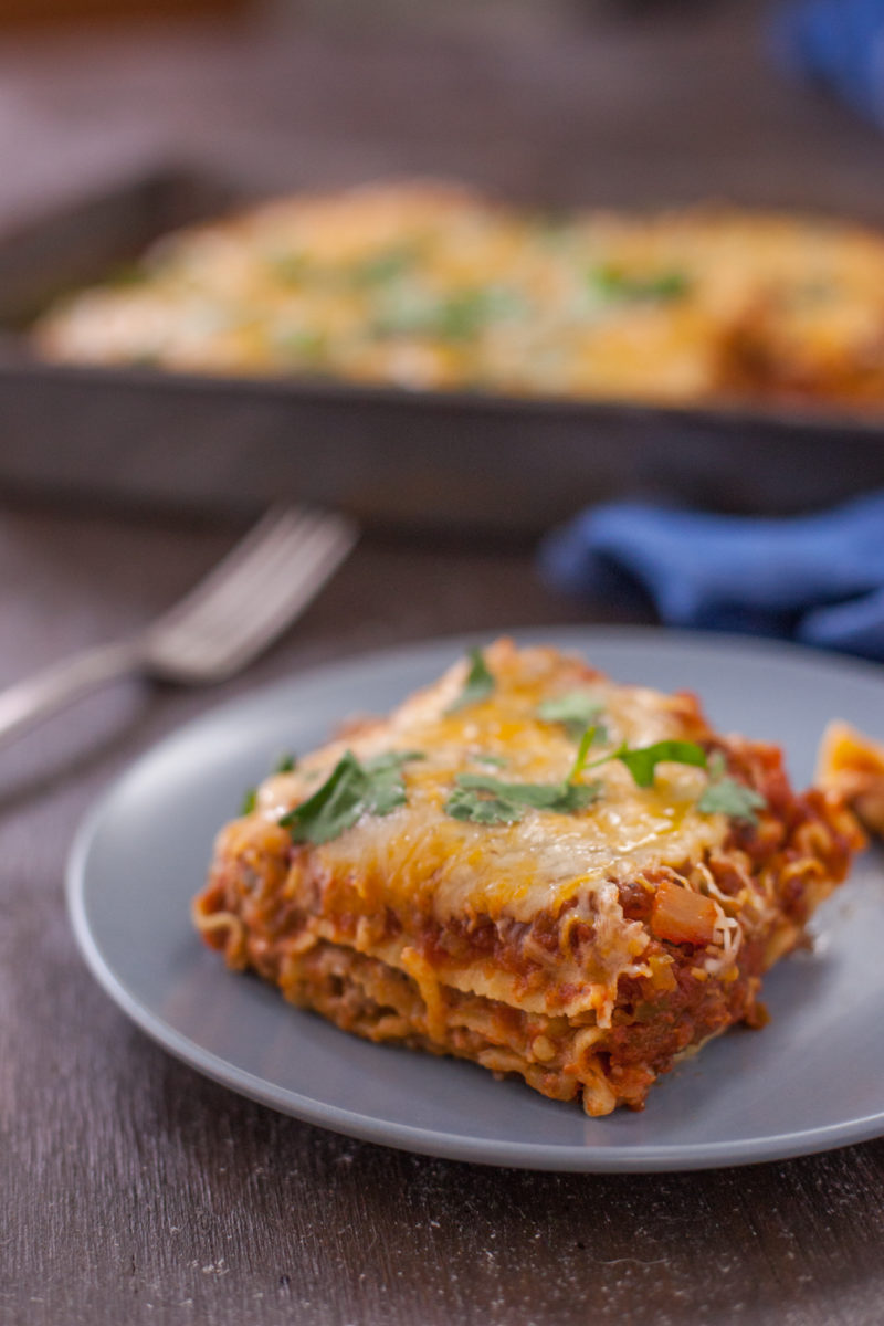 This Easy Taco Lasagna recipe comes together quickly and blends two favorite flavors for an out-of-this-world dish. From eatingrichly.com