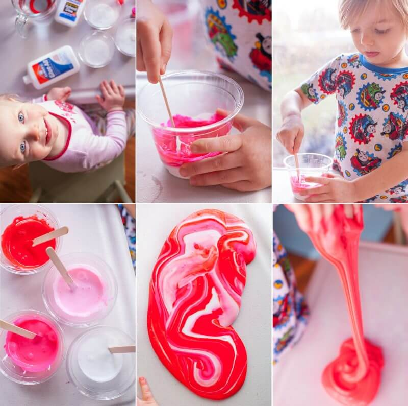 This quick and easy borax slime recipe makes a Valentine's Day activity that provides hours of entertainment. From EatingRichly.com