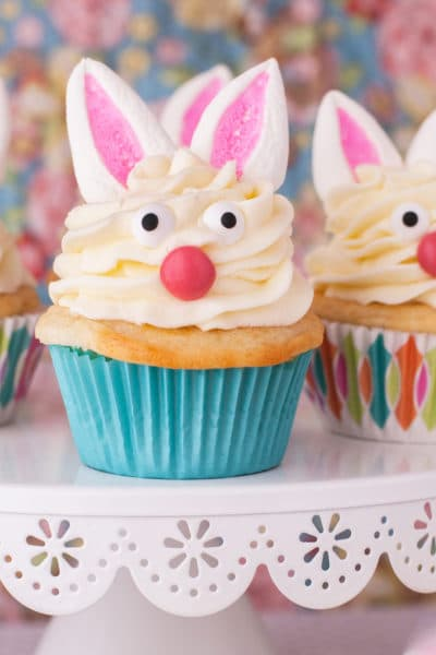 Marshmallow Bunny Cupcakes for Easter
