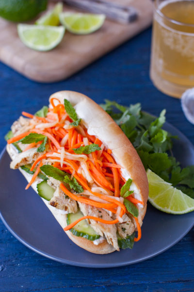 Vietnamese Sandwich Recipe with Grilled Chicken (Banh Mi)
