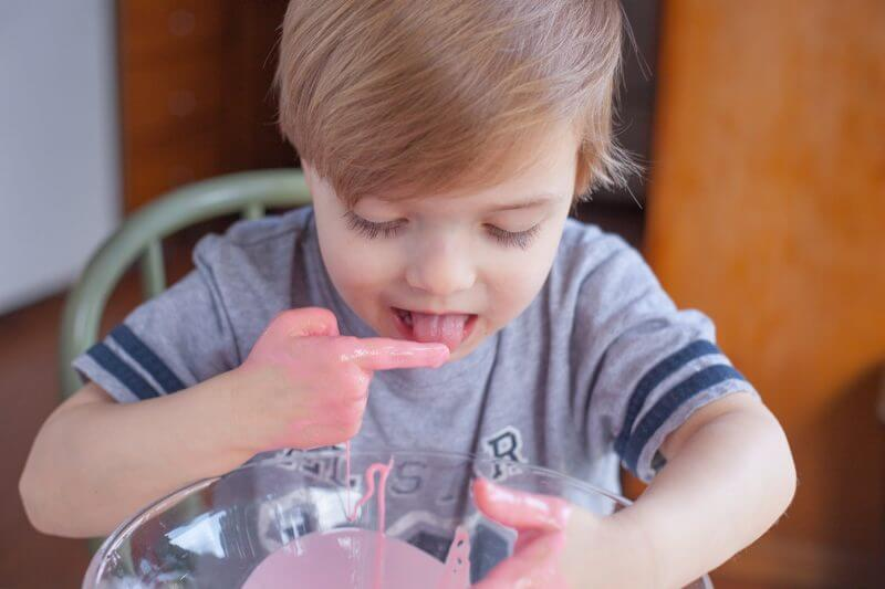 Kids of all ages love making, and playing with, this easy goo recipe. Moms love that it's completely safe for even the youngest toddlers! From EatingRichly.com