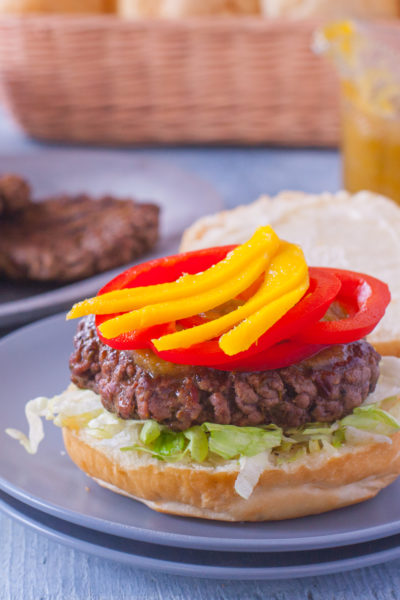 Jamaican Burger Recipe with Spicy Pineapple Sauce