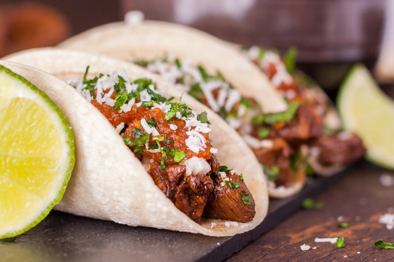 Take your taste buds to Mexico with a traditional taco recipe of flavorful steak topped with a fresh onion relish, & drizzled with spicy homemade salsa. Bet you can't eat just one! From EatingRichly.com