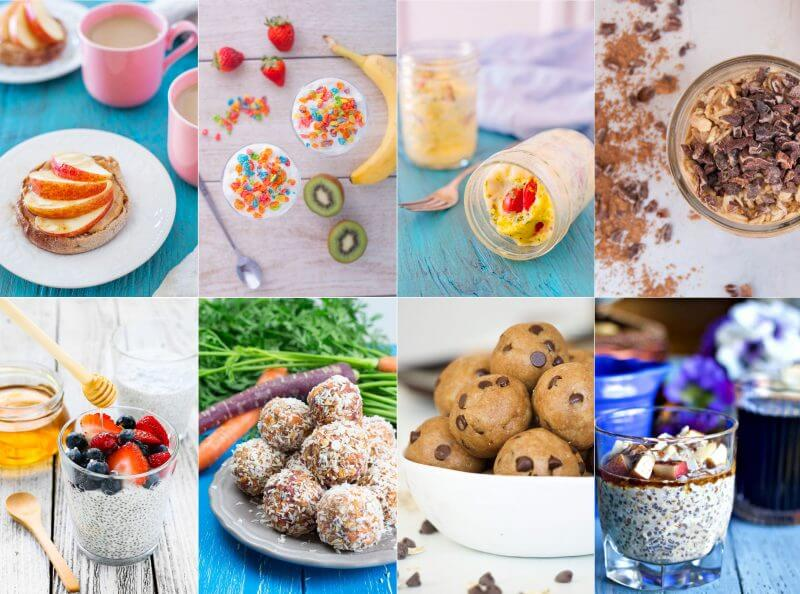 Breakfast can be a tough meal. Here's 50 healthy breakfast options kids can make, to turn the beginning of the day from a chore, into an adventure. From EatingRichly.com