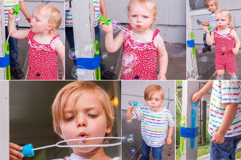 What an easy cheap way to get no spill bubbles wands! From EatingRichly.com