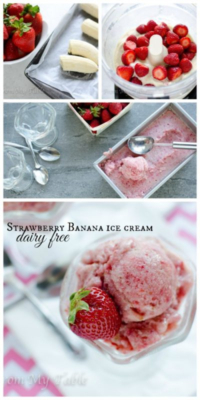 frozen dessert dairy free strawberry banana ice cream