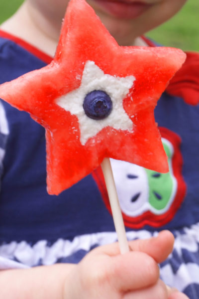 Kids will love making their own cute and healthy treats with this watermelon ice pops recipe.