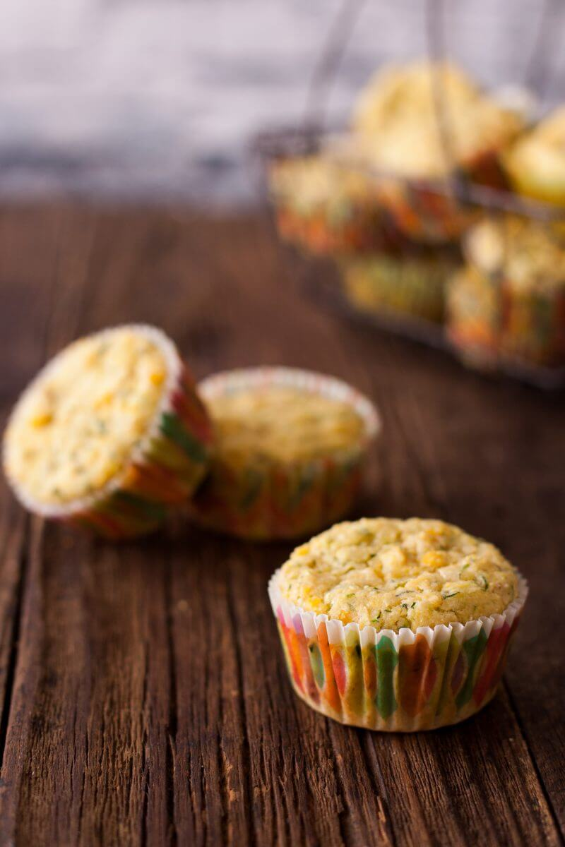 These healthy vegetable muffins are packed with zucchini, corn, and whole grains. And picky eaters LOVE them! From EatingRichly.com