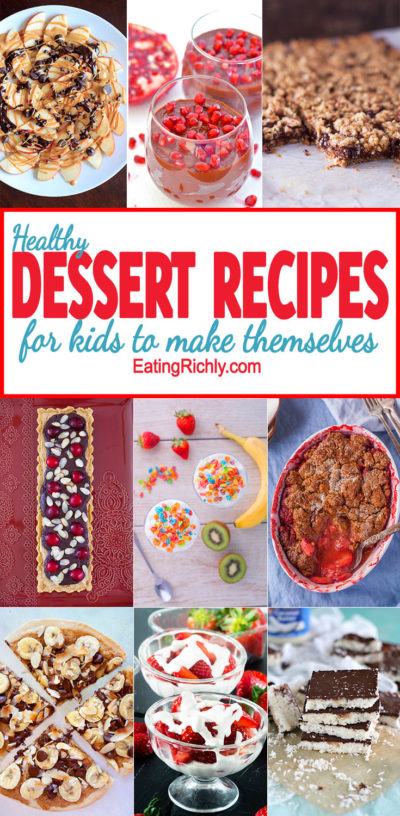 Your kids want dessert. You want to give them nourishing food. Problem? Not with these great healthy dessert recipes for kids and adults alike! From EatingRichly.com