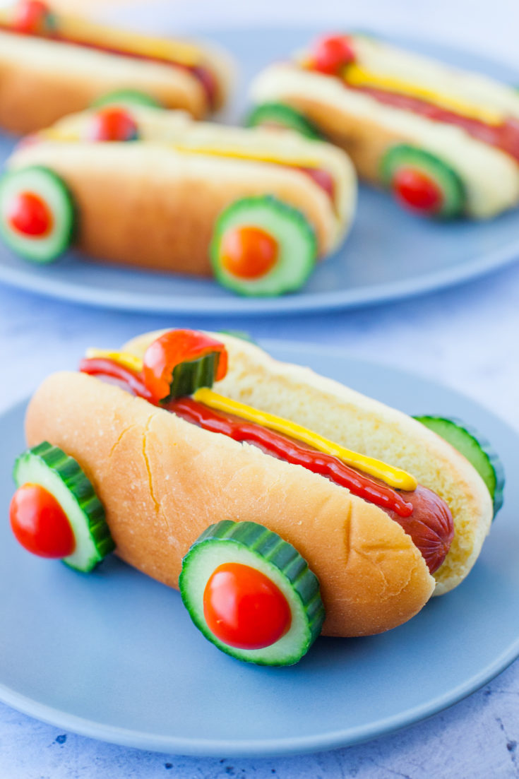 Race Car Hot Dogs