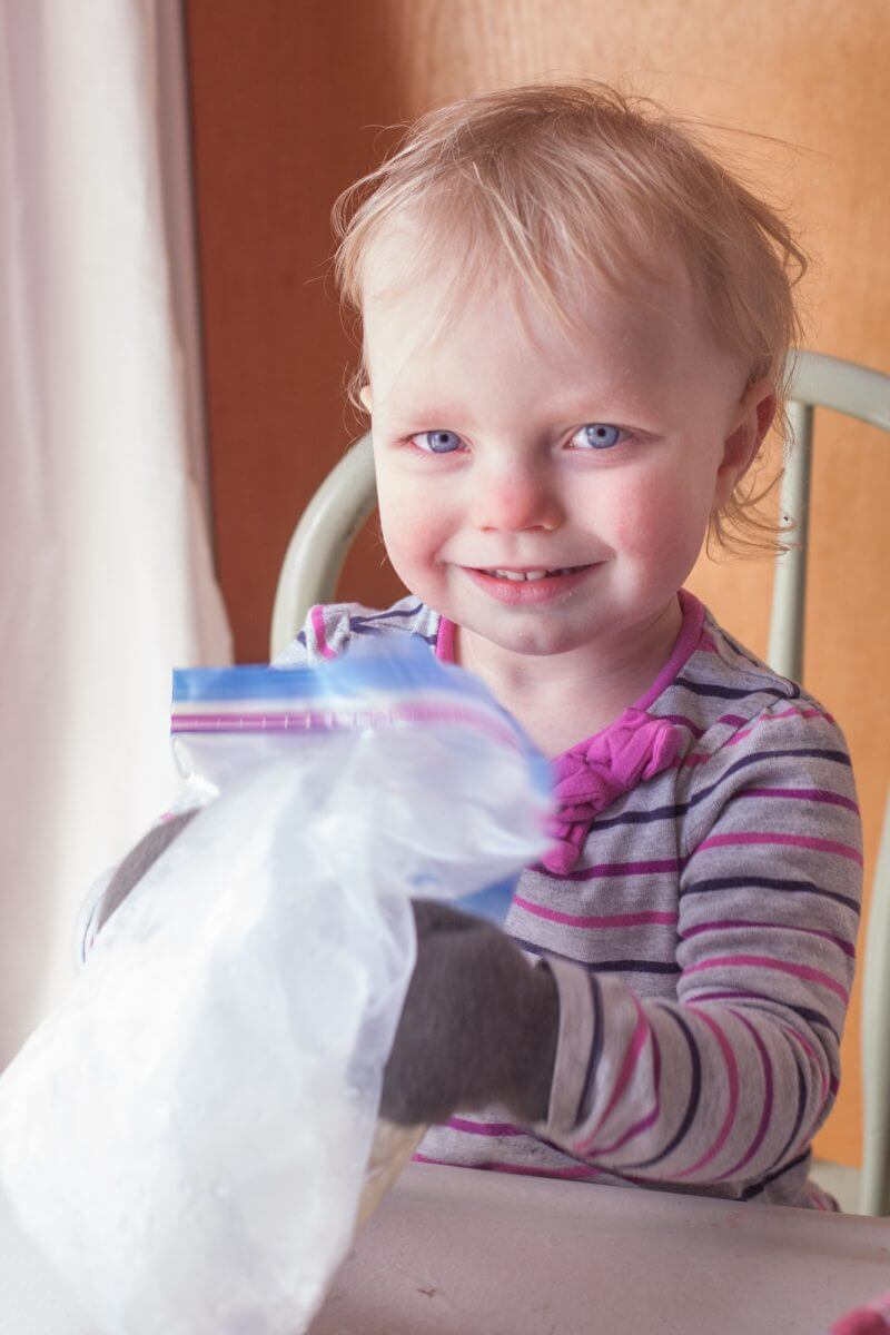 Homemade bag ice cream is a fun edible science project that kids of all ages will love making as much as they love eating! From EatingRichly.com