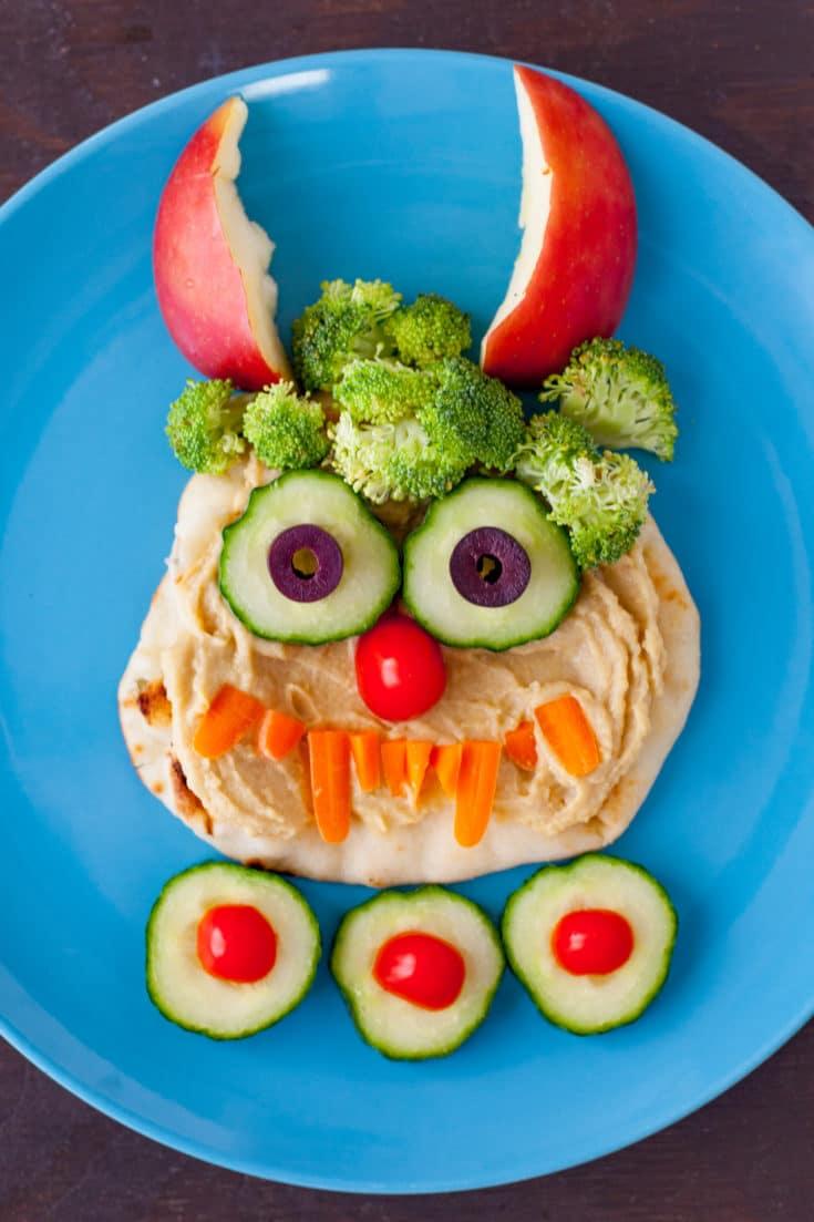 Hummus Monster Lunch for Kids