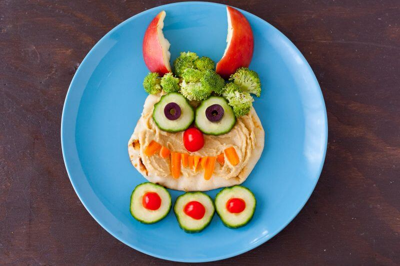 Hummus Monster Halloween Lunch For Kids Eating Richly
