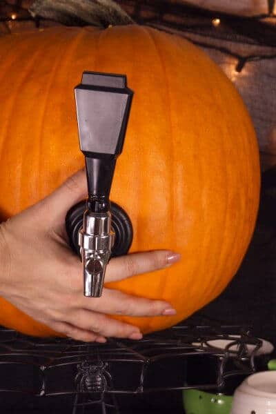 Bourbon Cider Pumpkin Keg for Halloween or Thanksgiving